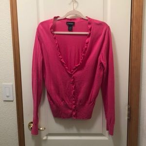 Hot pink lane Bryant cardigan size 18/20